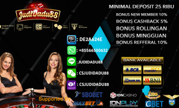 Agen Bola Sbobet Indonesia Minimum Depo 25rb