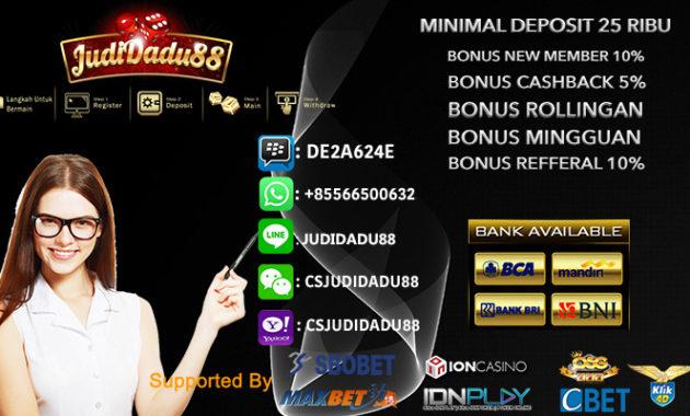 Taruhan Casino Online Indonesia Deposit 25rb